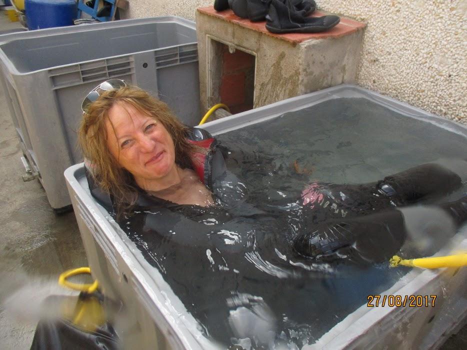 Murielle prend son bain