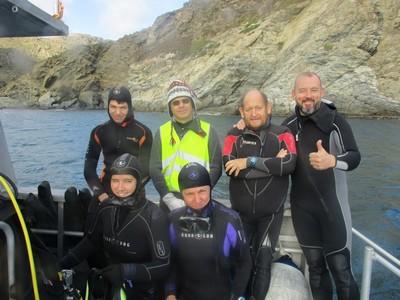 Groupe de plongeurs
