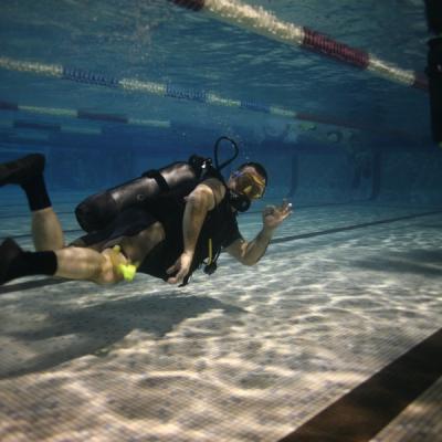 Photo nageur piscine