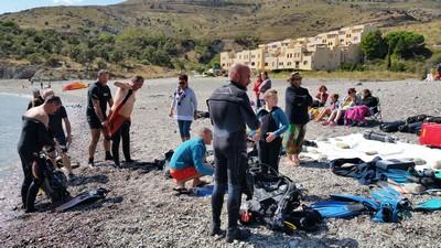 matériel sur la plage